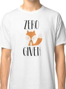 """Zero """"Fox"""" Given Classic T-Shirt"""