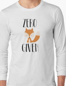 "Zero ""Fox"" Given Long Sleeve T-Shirt"