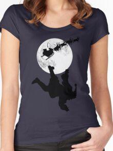 Santa Fallin' Women's Fitted Scoop T-Shirt