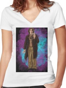 Paul McGann as Doctor Who Women's Fitted V-Neck T-Shirt