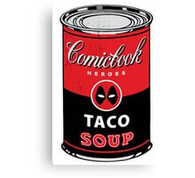 Comicbook Taco Soup Canvas Print