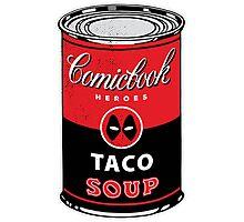 Comicbook Taco Soup Photographic Print