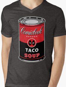 Comicbook Taco Soup Mens V-Neck T-Shirt