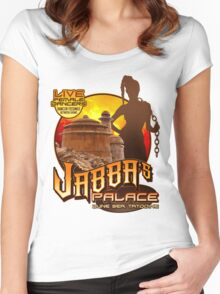 Jabba's Palace: Live Dancers...for Now. Women's Fitted Scoop T-Shirt