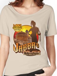 Jabba's Palace: Live Dancers...for Now. Women's Relaxed Fit T-Shirt