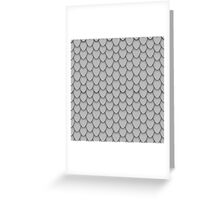 Grey Dragon Scales Greeting Card
