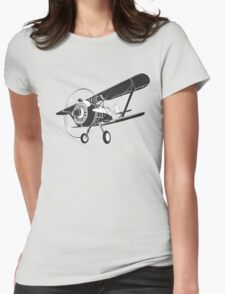 Retro fighter plane Womens Fitted T-Shirt