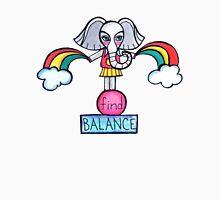 Find Balance: Whimsical Elephant Watercolor Illustration Unisex T-Shirt