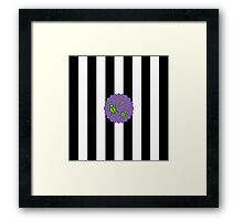 Beetlejuice in Stripe Framed Print