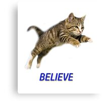 Believe Kitten Canvas Print