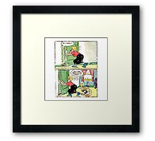 comic vintage Framed Print