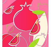 Fresh Pomegranate fruit design Photographic Print