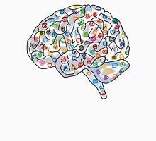 Social Media Human Brain  Unisex T-Shirt