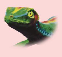 Gecko Lizard Close up 3d digital Art Kids Tee