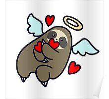 Sloth Valentine Angel Poster