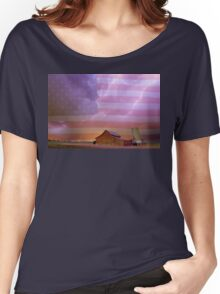 American Country Stormy Night Women's Relaxed Fit T-Shirt