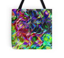 Psychedelic Mirror Waves Tote Bag