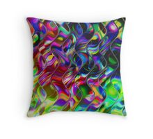Psychedelic Mirror Waves Throw Pillow