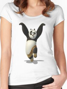 kung fu panda Women's Fitted Scoop T-Shirt
