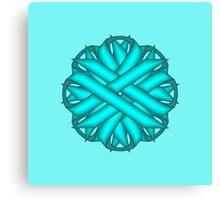 Light Blue / Tea Flower Ribbon Canvas Print
