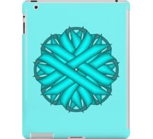 Light Blue / Tea Flower Ribbon iPad Case/Skin