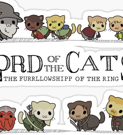 lord of the cat Sticker