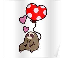 Sloth Valentine Balloon Poster