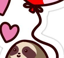 Sloth Valentine Balloon Sticker