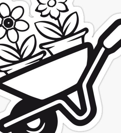 Garden wheelbarrow flowers Sticker