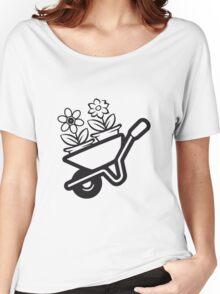 Garden wheelbarrow flowers Women's Relaxed Fit T-Shirt