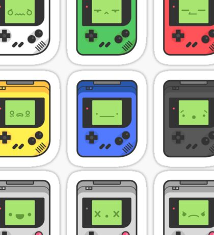 Game Boy Faces Sticker