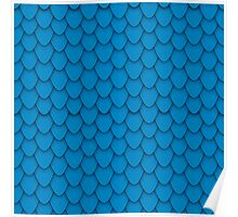 Blue Dragon Scales Poster