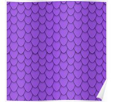Purple Dragon Scales Poster