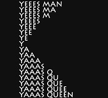 Yas Queen (white font) Womens Fitted T-Shirt