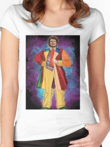Colin Baker as Doctor Who Women's Fitted Scoop T-Shirt