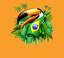 Toco Toucan on Brazil Flag Unisex T-Shirt