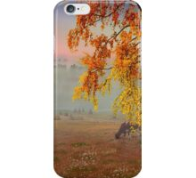 Foggy Country Morning iPhone Case/Skin