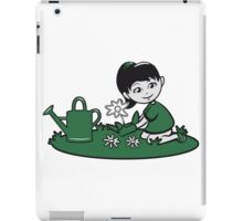 Garden watering flowers plants iPad Case/Skin