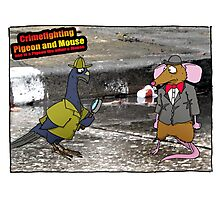 Crime Fighting Pigeon and Mouse  Photographic Print