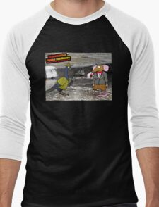 Crime Fighting Pigeon and Mouse  Men's Baseball ¾ T-Shirt