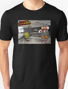 Crime Fighting Pigeon and Mouse  Unisex T-Shirt
