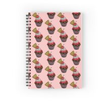 Double Cherry Chocolate Cupcake Spiral Notebook