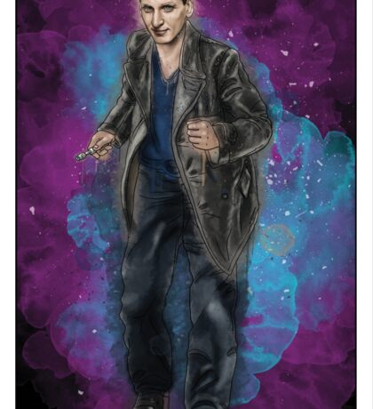 Christopher Eccleston as Doctor Who Sticker