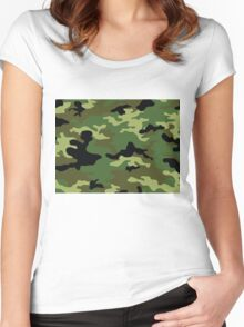 Camouflage Women's Fitted Scoop T-Shirt