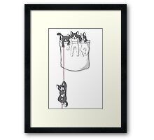 Pocket cat / Pocket Kittens Framed Print