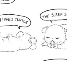 Hamster Sleeping Guide Sticker