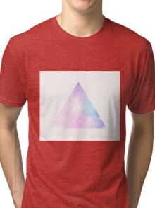 Pastel Galaxy Triangle Tri-blend T-Shirt