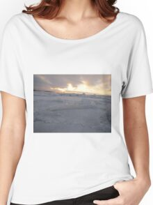 icy ocean view with sun Women's Relaxed Fit T-Shirt
