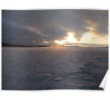 icy ocean view Poster