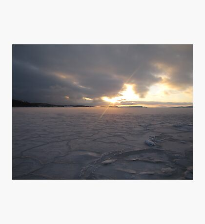 icy ocean view Photographic Print
